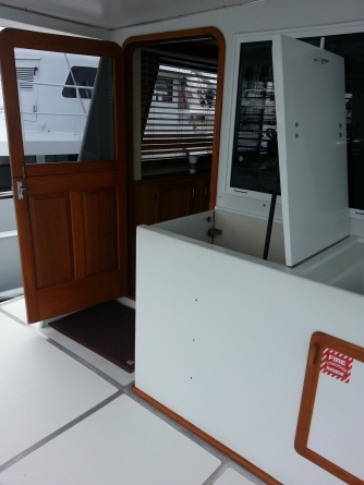 Main Salon Entrance on Aft Deck